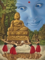 Buddha and the Daughters of Mara (2014) © Michaël Hiep